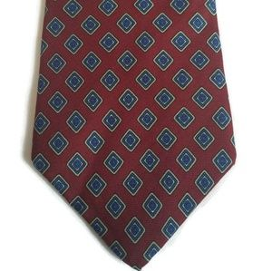 Christian Dior Silk Tie in Maroon and Blue